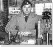 Colonel Rex Applegate at desk